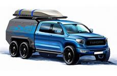 В России создадут первый в мире 6-колёсный Toyota Tundra