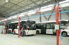В Алматы собраны первые в Казахстане электроавтобусы