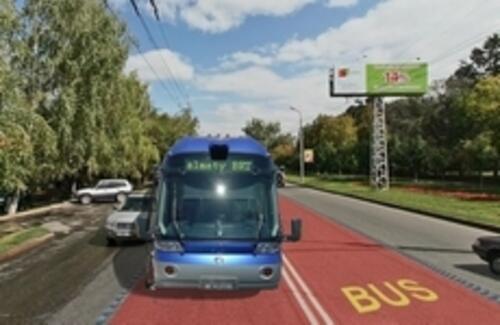 В Алматы начали строительство первой линии скоростных автобусов