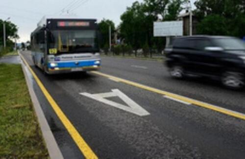 Автобусы в Алматы будут фиксировать нарушения ПДД