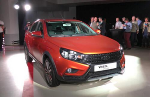 «АвтоВАЗ» представил внедорожную Lada Vesta Cross
