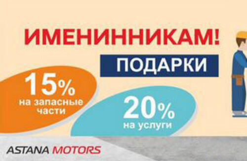 Именинникам, Hyundai Auto Astana, дарит подарки!