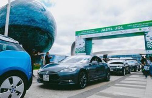Первый автопробег электромобилей стартовал в Казахстане