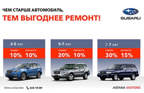 Вашему автомобилю более 3-х лет? Обслуживайте его выгодно!