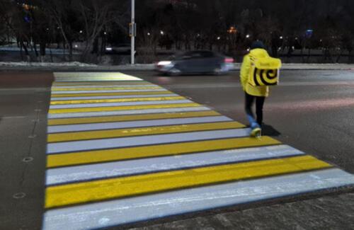 Необычный пешеходный переход установили в Нур-Султане